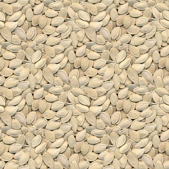 Pumpkin Seeds Seamless Background