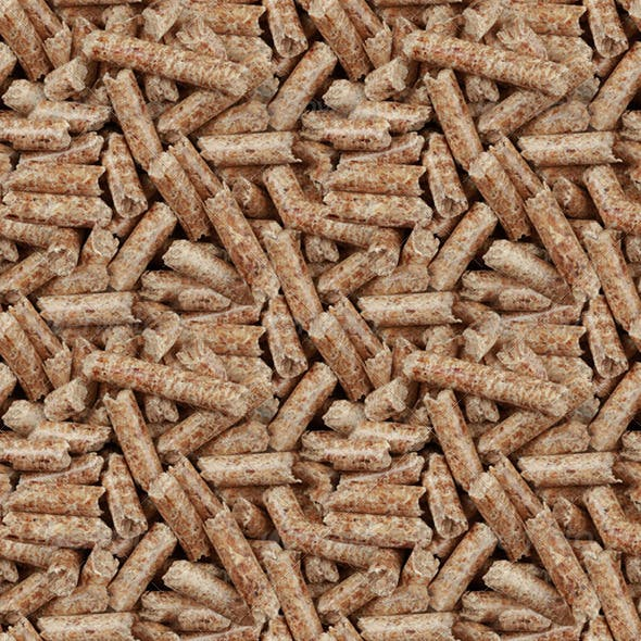 Wooden Pellets Seamless Background