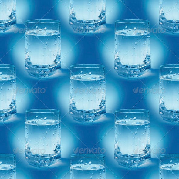 Water Glass Seamless Pattern - 3DOcean Item for Sale