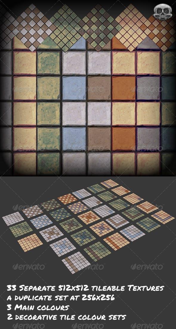 Hand Painted Modular Tile Set  - 3DOcean Item for Sale