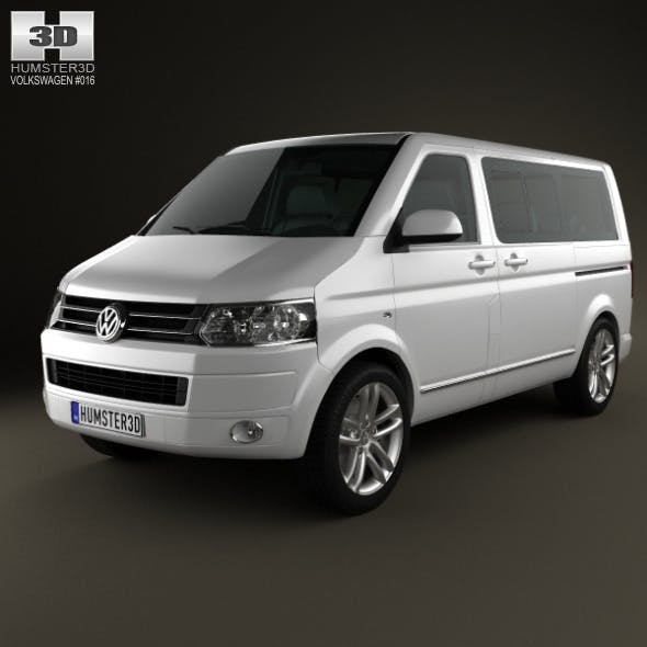 Volkswagen Transporter Caravelle Multivan 2011 - 3DOcean Item for Sale