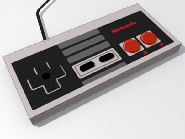 Nintendo Entertainment System Controller - 3DOcean Item for Sale