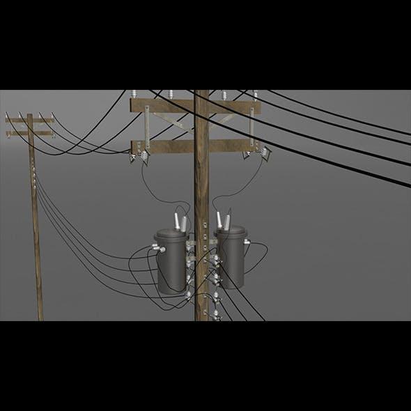 Utility Pole - 3DOcean Item for Sale