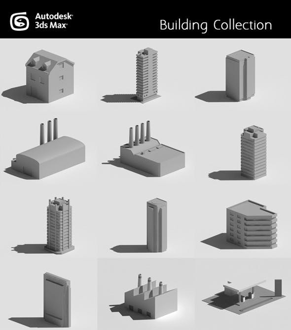 Buildings Collection - 3DOcean Item for Sale
