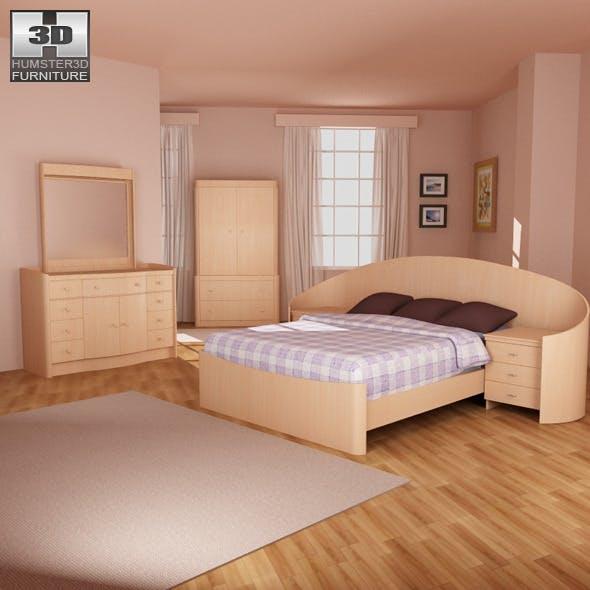 Bedroom furniture 16 Set - 3DOcean Item for Sale