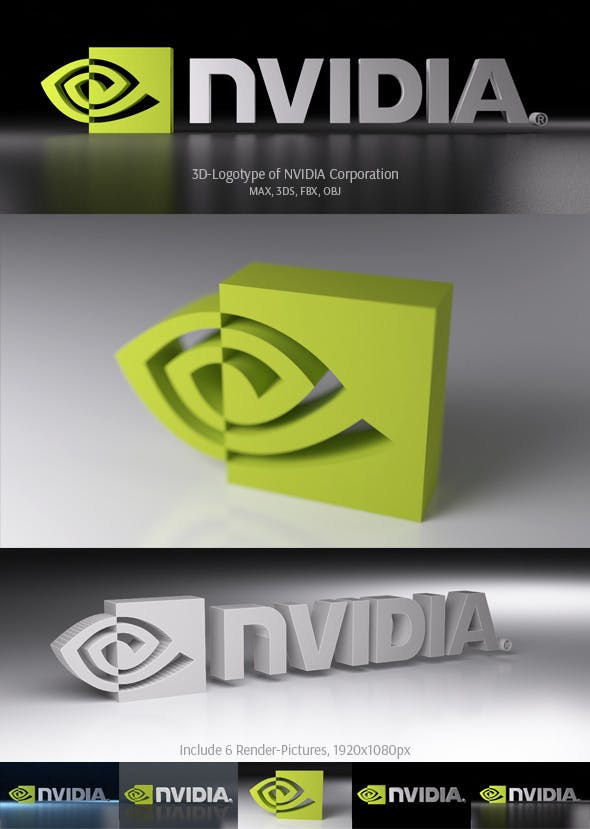 NVIDIA Corporation 3D Logotype - 3DOcean Item for Sale