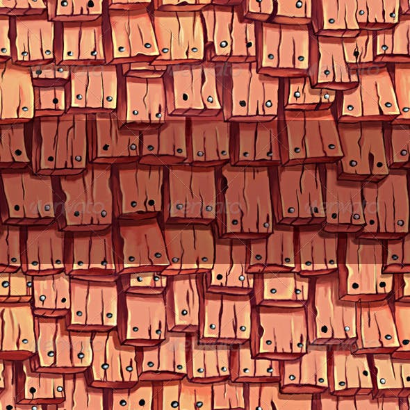 Wood  Roof Tile Texture 1
