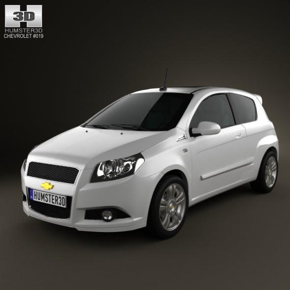 Chevrolet Aveo 3door 2009 - 3DOcean Item for Sale