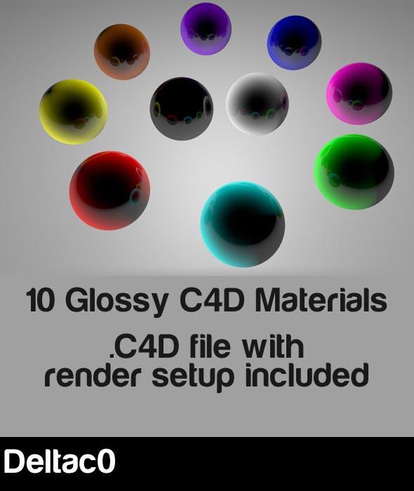 10 Glassy Materials for Cinema 4D R12 - 3DOcean Item for Sale