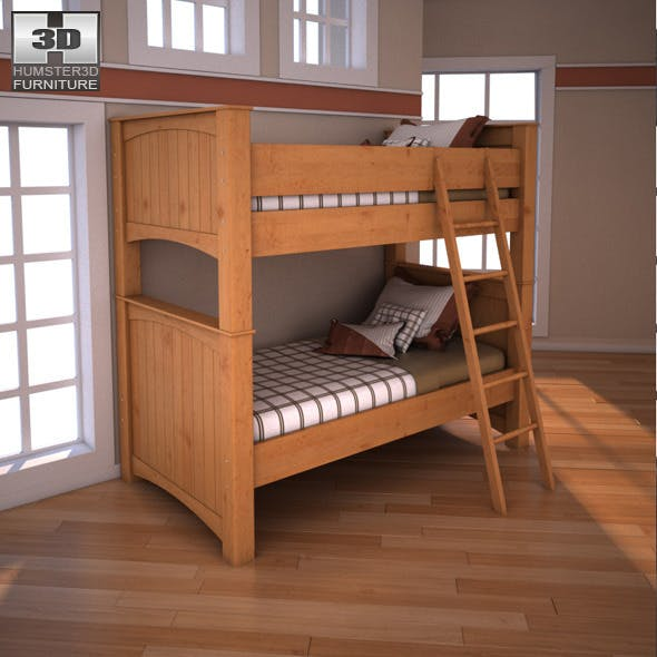 Ashley Stages Twin Bunk Bed - 3DOcean Item for Sale