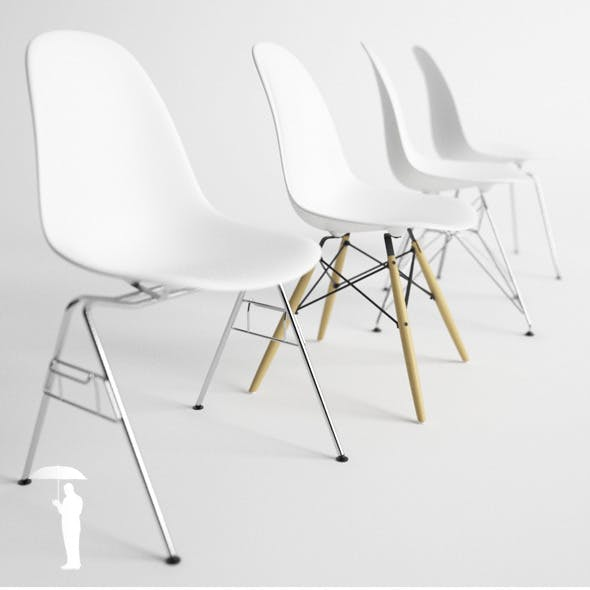 Eames Plastic Side Chair 4in1 DSW, DSX, DSR, DSS