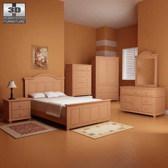 Bedroom furniture 18 Set - 3DOcean Item for Sale