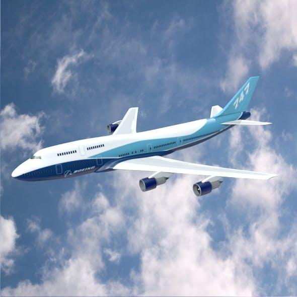 Boeing 747-300 airliner - 3DOcean Item for Sale