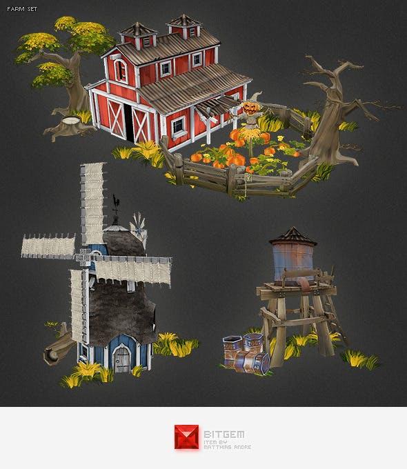 Low Poly Farm Set 01 - 3DOcean Item for Sale