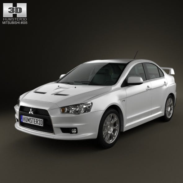 Mitsubishi Lancer Evolution X - 3DOcean Item for Sale
