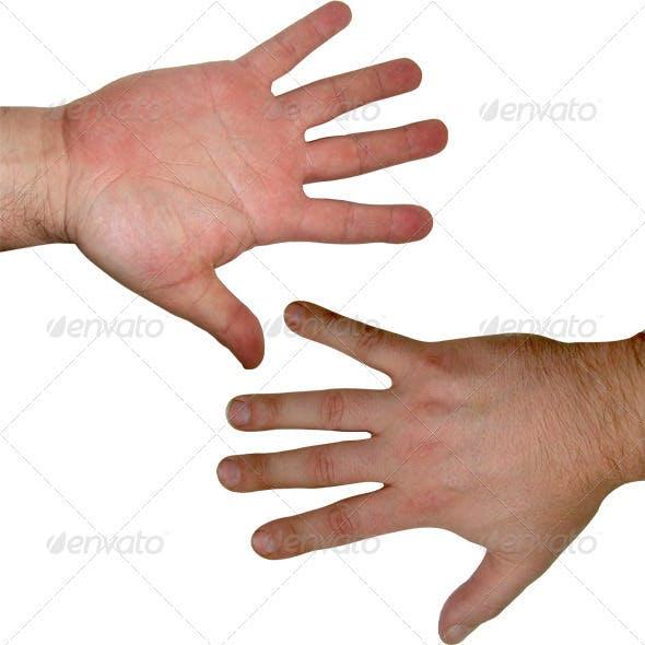 Human hand textures