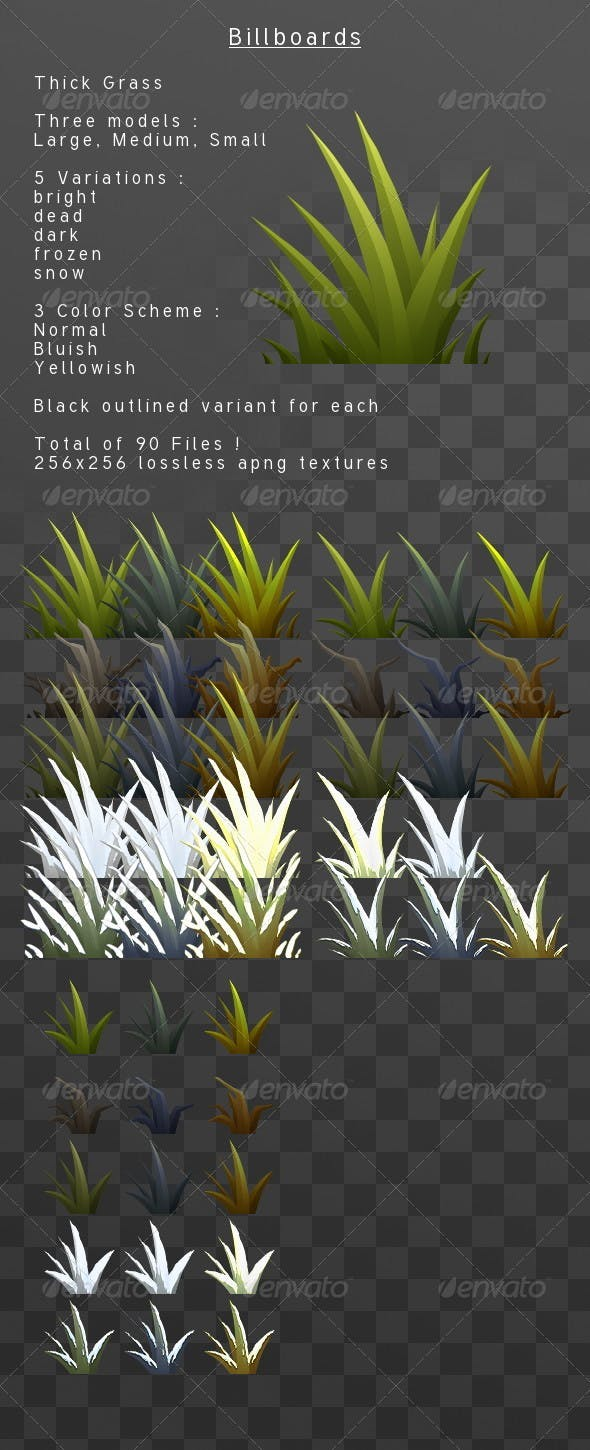 ThickGrass billboard pack - 3DOcean Item for Sale
