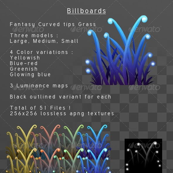 Fantasy Curvedtips Grass billboard pack