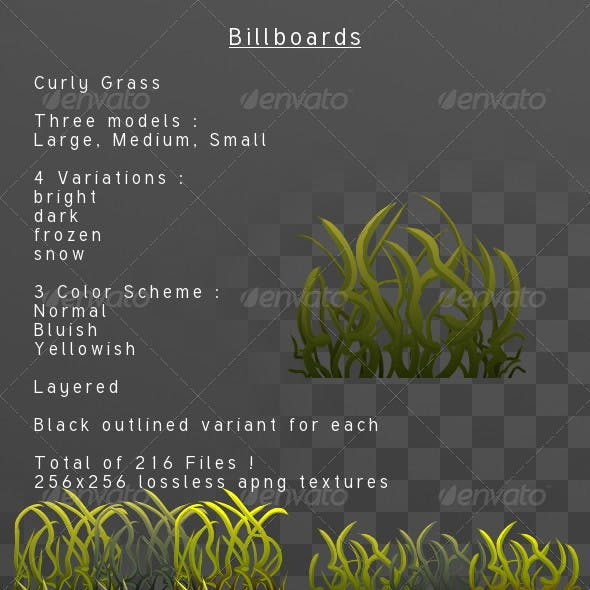Curly Grass billboard pack