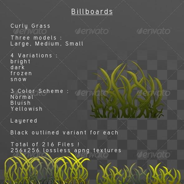Curly Grass billboard pack