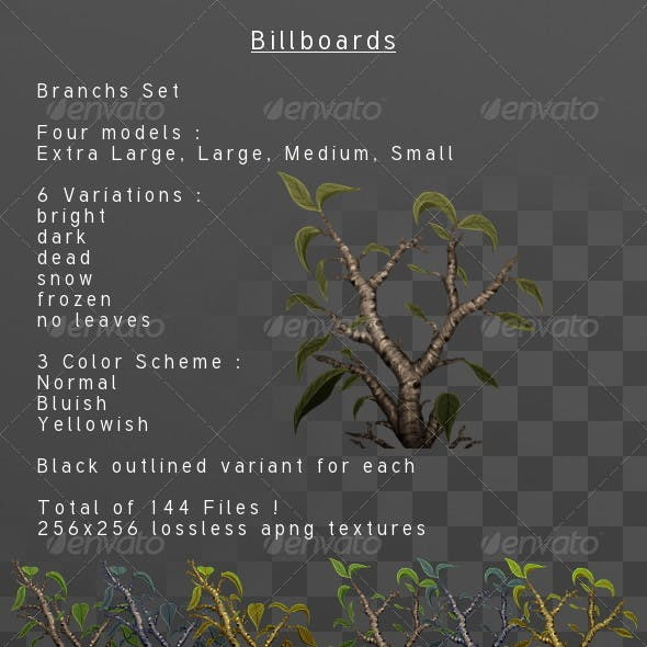 Branches & Leaves Billboard pack