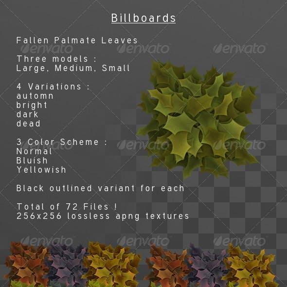 Fallen palmate leaves Billboard pack