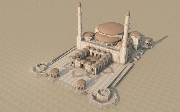 Mosque Modeling 2 - 3DOcean Item for Sale