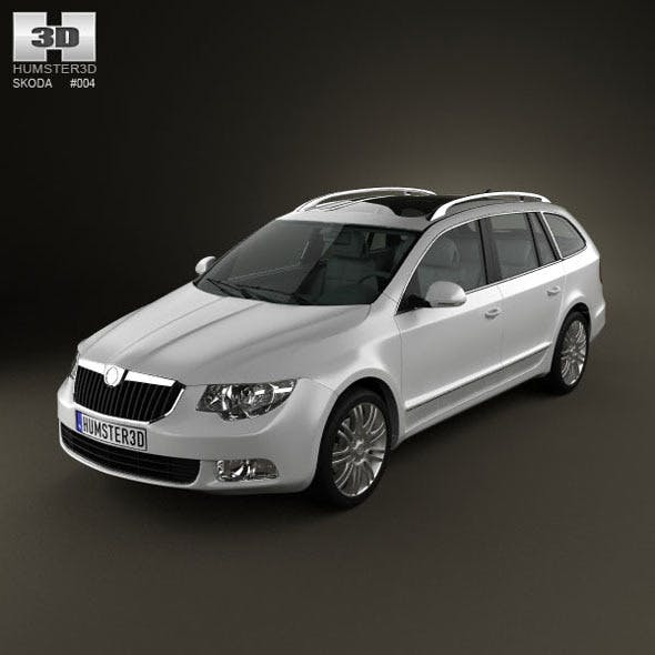Skoda SuperB Combi 2011 - 3DOcean Item for Sale