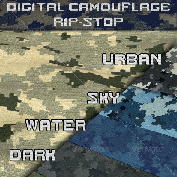 Digital Camouflage Rip-Stop