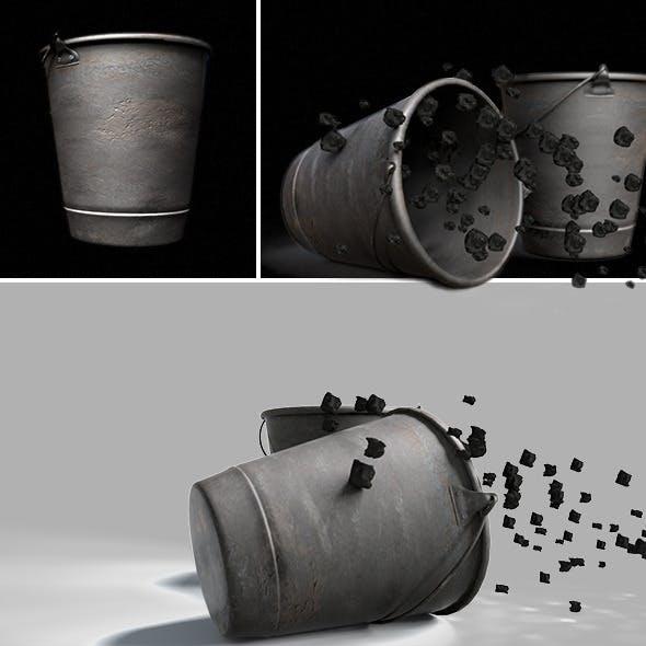 Rusty Metal Bucket - 3DOcean Item for Sale
