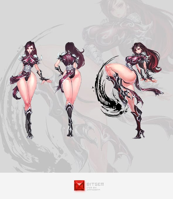 Manga Girl Concept - 3DOcean Item for Sale