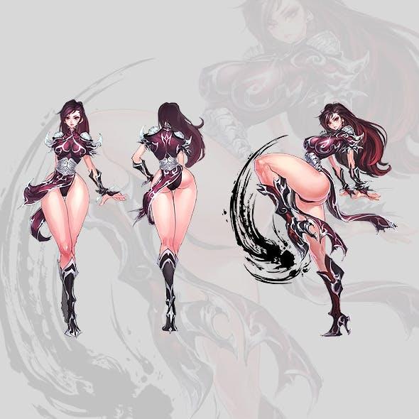 Manga Girl Concept