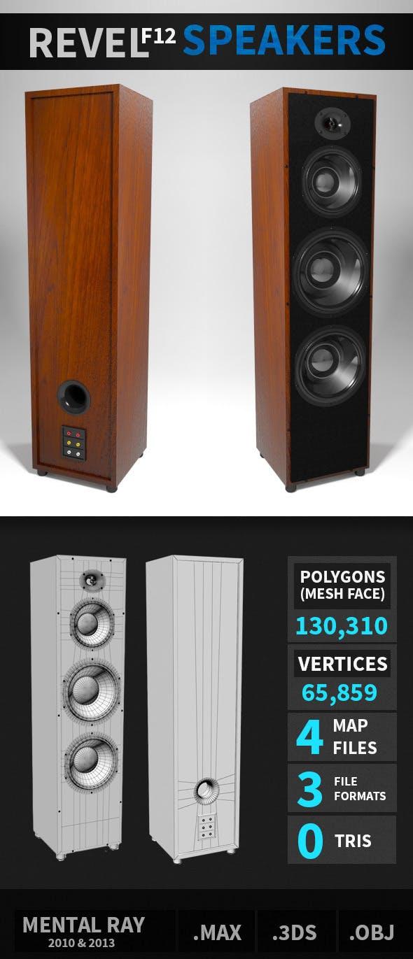 Revel F12 Speakers - 3DOcean Item for Sale