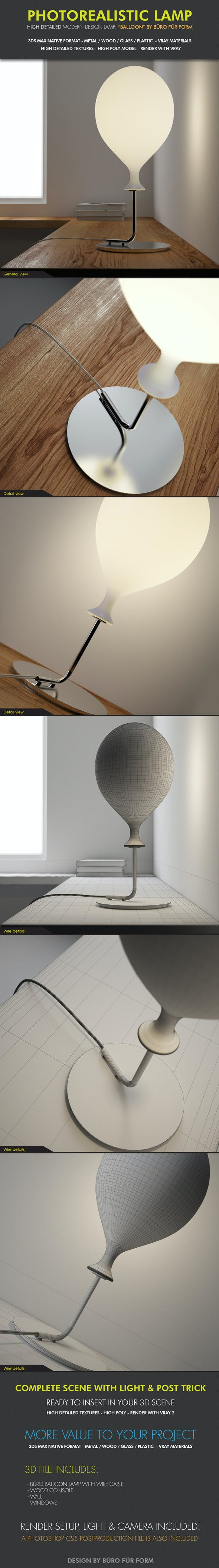 Design Lamp Buro Fur Form - 3DOcean Item for Sale