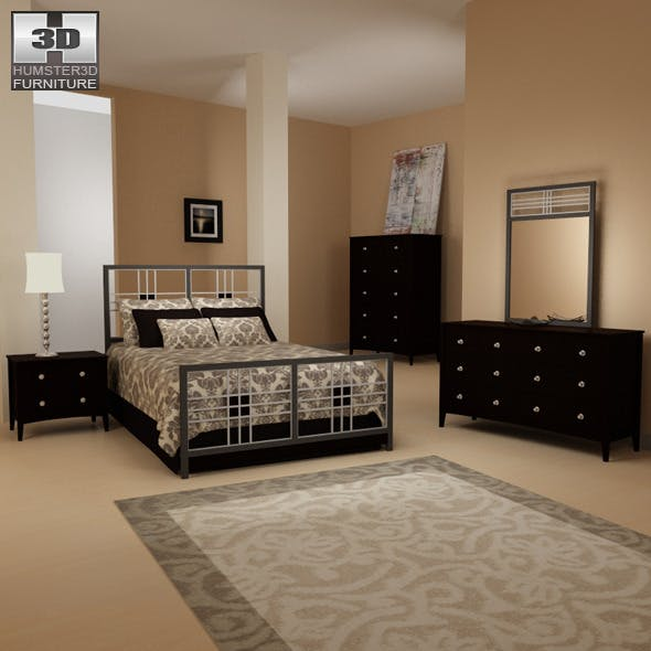 Bedroom furniture 17 Set - 3DOcean Item for Sale