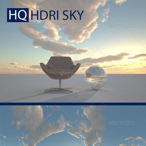 Realistic Cloudy Evening Sky HDRI