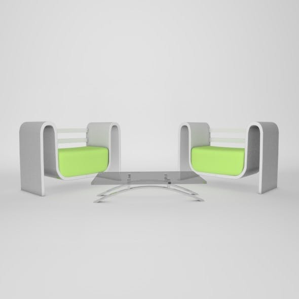 Modern Chairs & table - 3DOcean Item for Sale