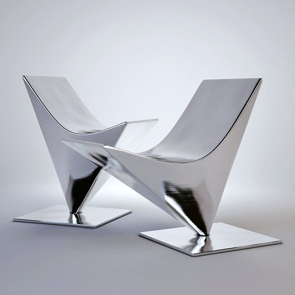 3d model of MDF italia lofty easy chair - 3DOcean Item for Sale