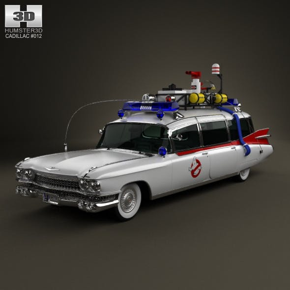 Cadillac Miller-Meteor Ghostbusters Ectomobile - 3DOcean Item for Sale