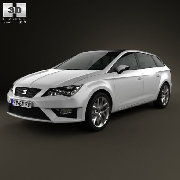 Seat Leon wagon 2013 - 3DOcean Item for Sale
