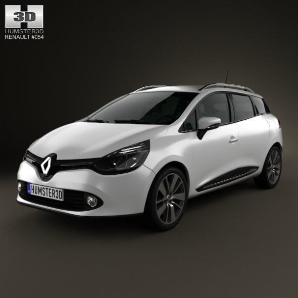 Renault Clio IV Estate 2013 - 3DOcean Item for Sale