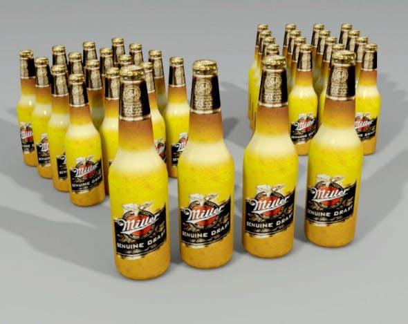 Miller Beer Bottle Lowpoly - 3DOcean Item for Sale