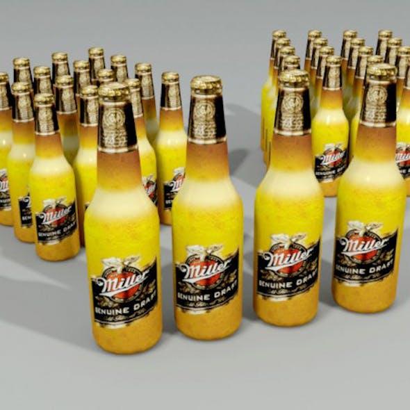 Miller Beer Bottle Lowpoly