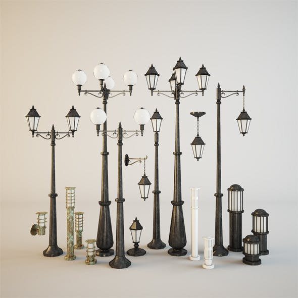 Street lamps - 3DOcean Item for Sale