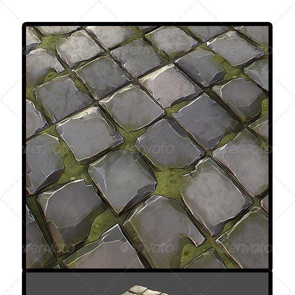 Grassy Stone Road Tile 01
