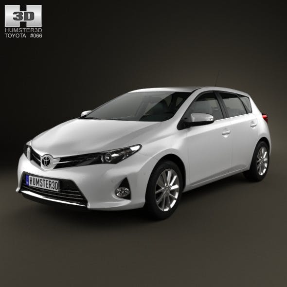 Toyota Auris hatchback 5-door 2013 - 3DOcean Item for Sale