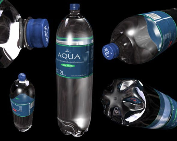 Bottle of Water - 3DOcean Item for Sale
