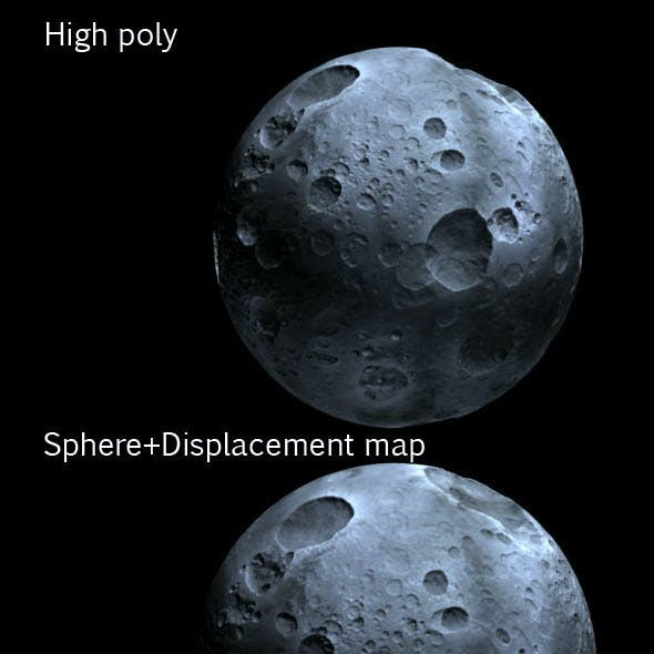 Highly Detailed Planet or Moon with Big Craters