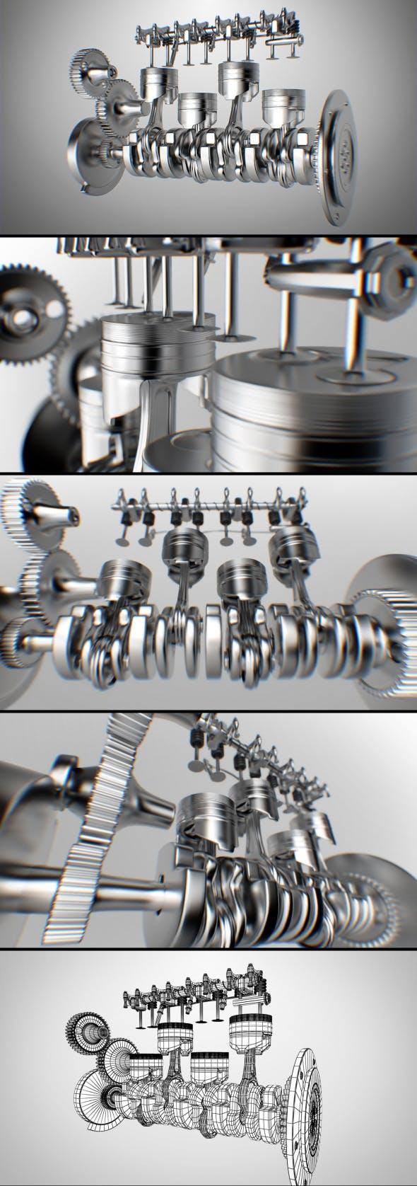 Piston Engine - 3DOcean Item for Sale