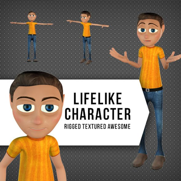 Rigged and Textured Character for Animation